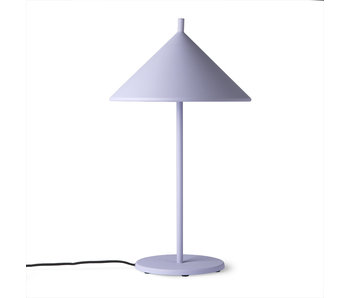 HK-Living Metal triangle table lamp lilac - medium