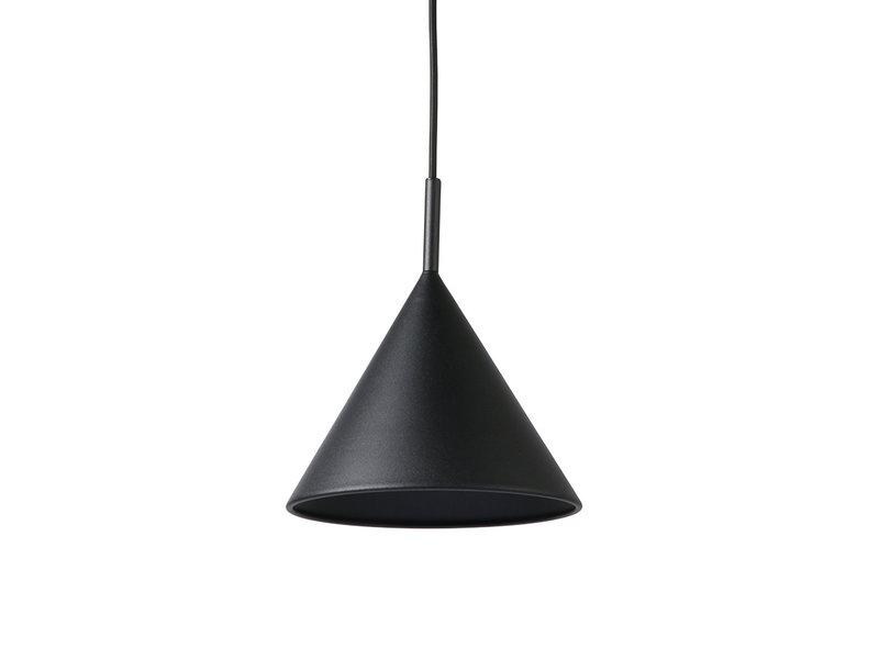 HK-Living Metalen driehoekige hanglamp zwart - medium