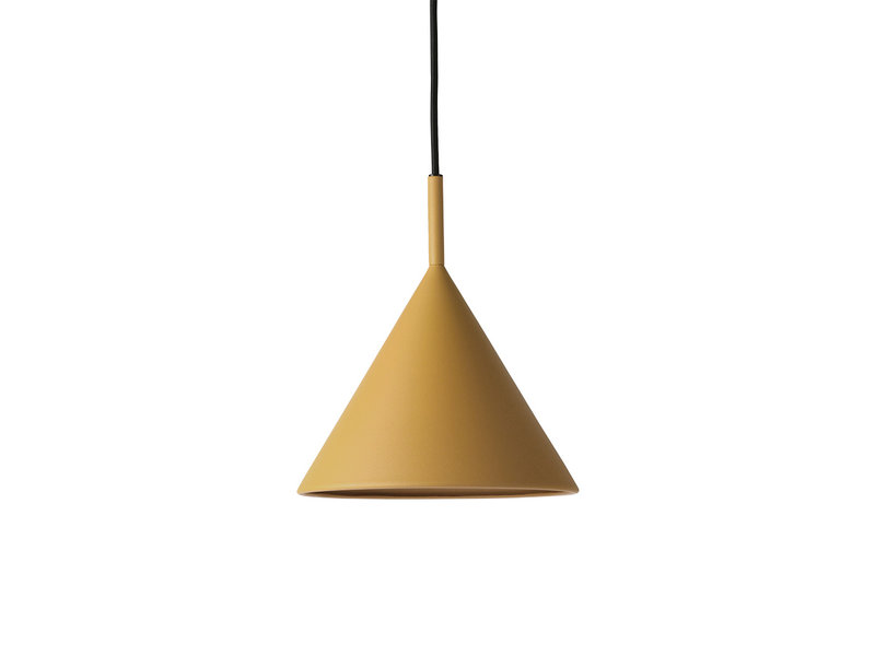 HK-Living Metalen driehoekige hanglamp oker - medium