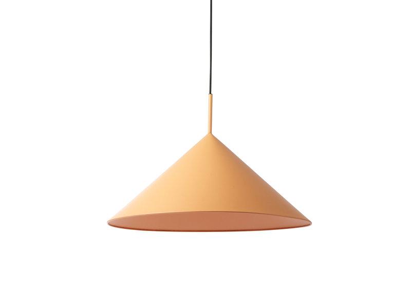 HK-Living Metall triangulär hängande lampa persika - stor