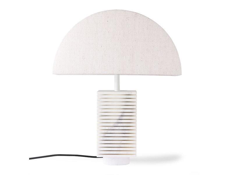 HK-Living Geribbelde lampvoet wit marmer