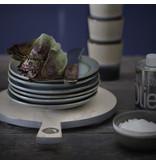 HK-Living Keramiek dessert bord Moss - set van 6
