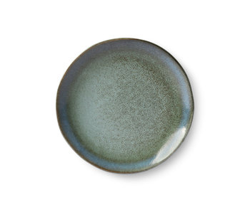 HK-Living Ceramic dessert plate Moss - set of 6