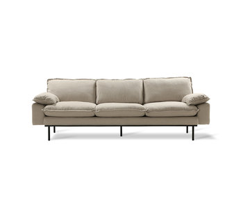 HK-Living Retro sofa 4-seater cozy beige