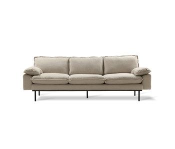 HK-Living Retro Sofa 4-Sitzer gemütlich beige