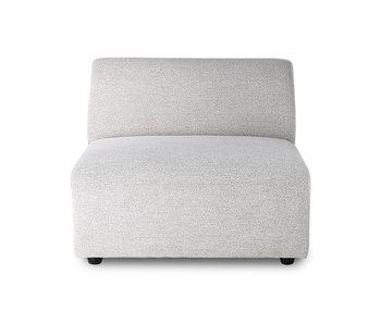 HK-Living Module de canapé Jax element milieu sneak gris clair