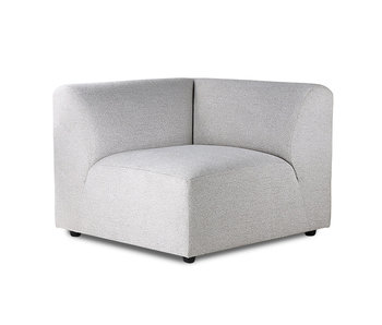 HK-Living Module de canapé Jax element à gauche gris clair