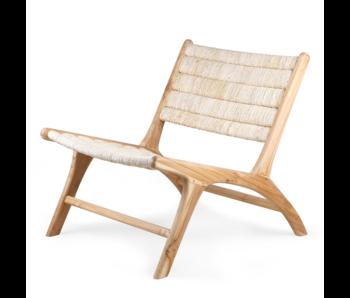 HK-Living Chaise longue en bois d'abaca / teck