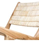 HK-Living Abaca/teak hout loungestoel