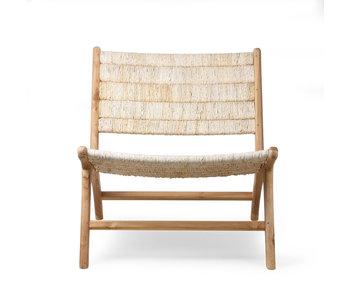 HK-Living Abaca / teak træ lounge stol