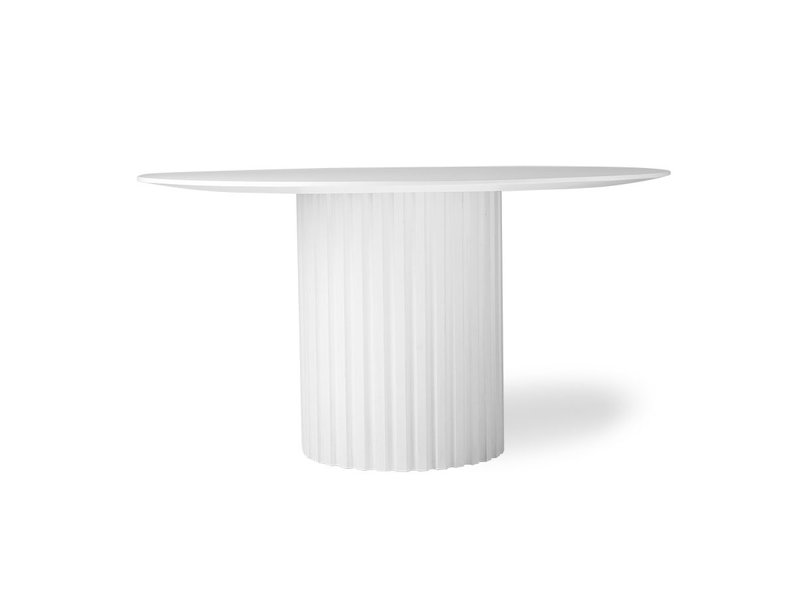 Hk Living Pillar Dining Table Round White Living And Co