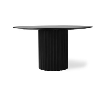 HK-Living Pillar dining table around black