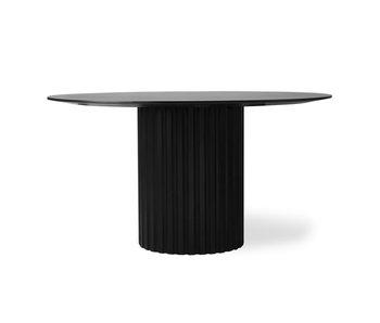 HK-Living Pillar matbord runt svart