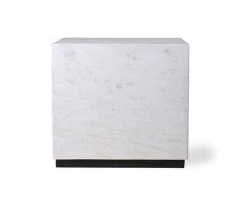 HK-Living Marble block coffee table white - large