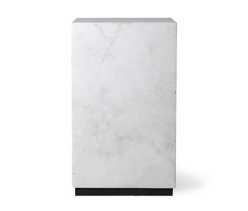 HK-Living Marmeren blok salontafel wit - small