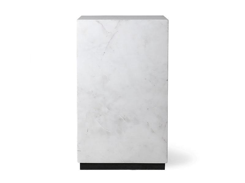 HK-Living Table basse en marbre blanc - petite