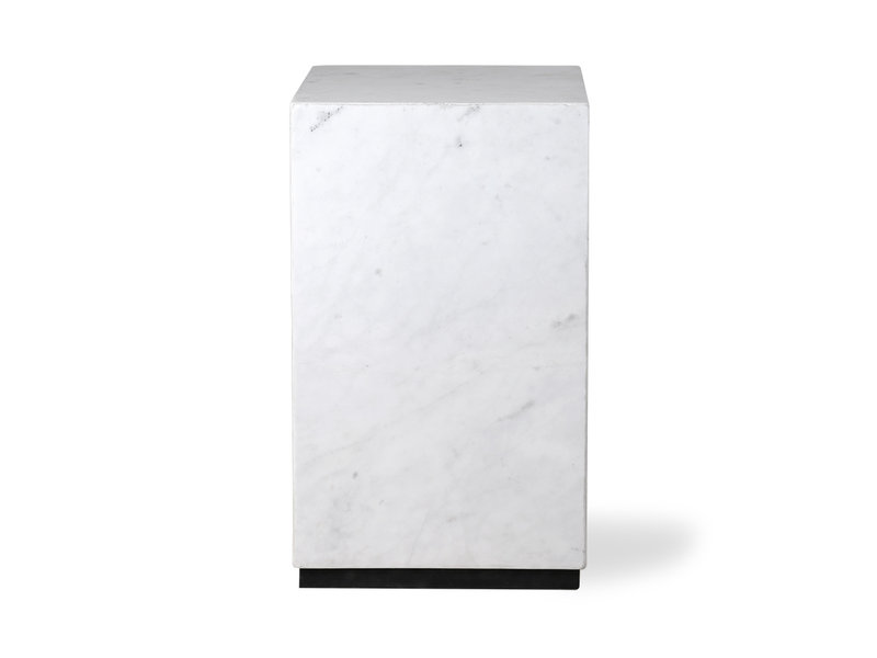 HK-Living Marble block coffee table white - small