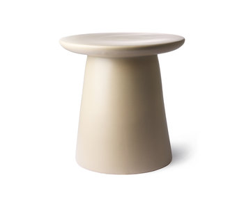 HK-Living Earthenware side table cream / natural