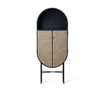 HK-Living Retro oval cupboard black