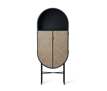 HK-Living Retro ovaler Schrank schwarz