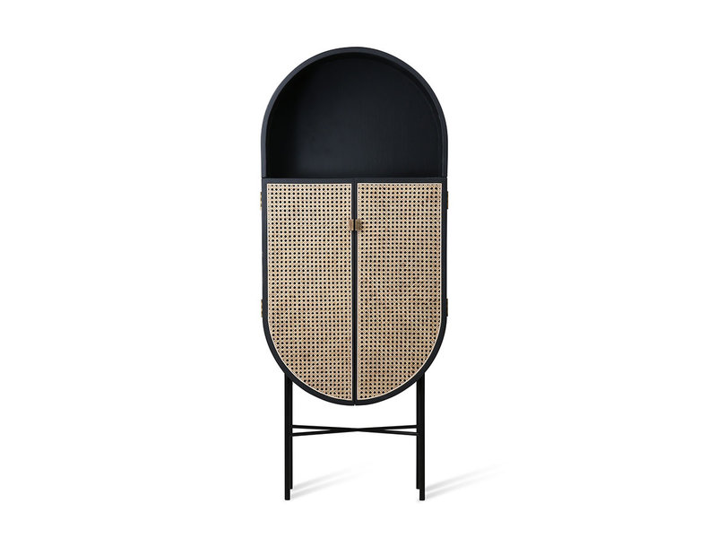 HK-Living Retro oval cupboard black