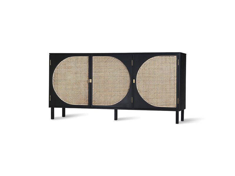 HK-Living Retro Gurt Sideboard schwarz