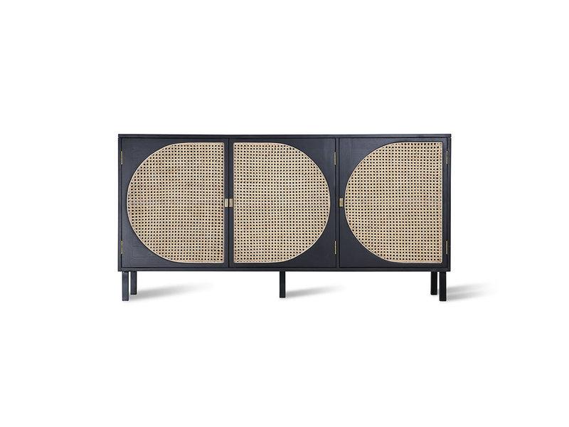 HK-Living Retro webbing sideboard black