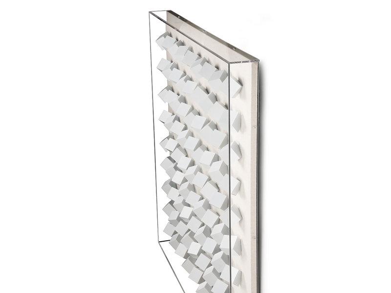HK-Living Cadre d'art en plexi blanc cubes XL