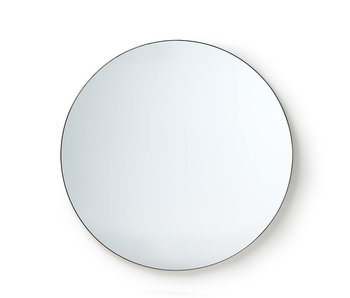 HK-Living Round wall mirror metal frame 120 cm
