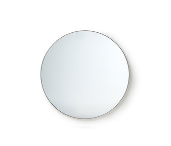HK-Living Round wall mirror metal frame 80 cm