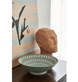HK-Living Terracotta abstract head sculpture