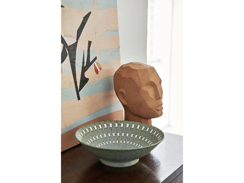 HK-Living Terracotta abstrakt hovedskulptur