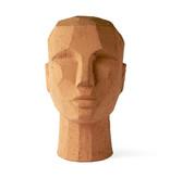 HK-Living Terrakotta abstrakte Kopfskulptur