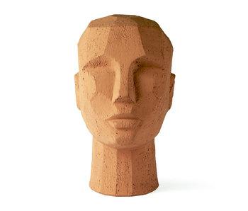 HK-Living Sculpture tête abstraite en terre cuite