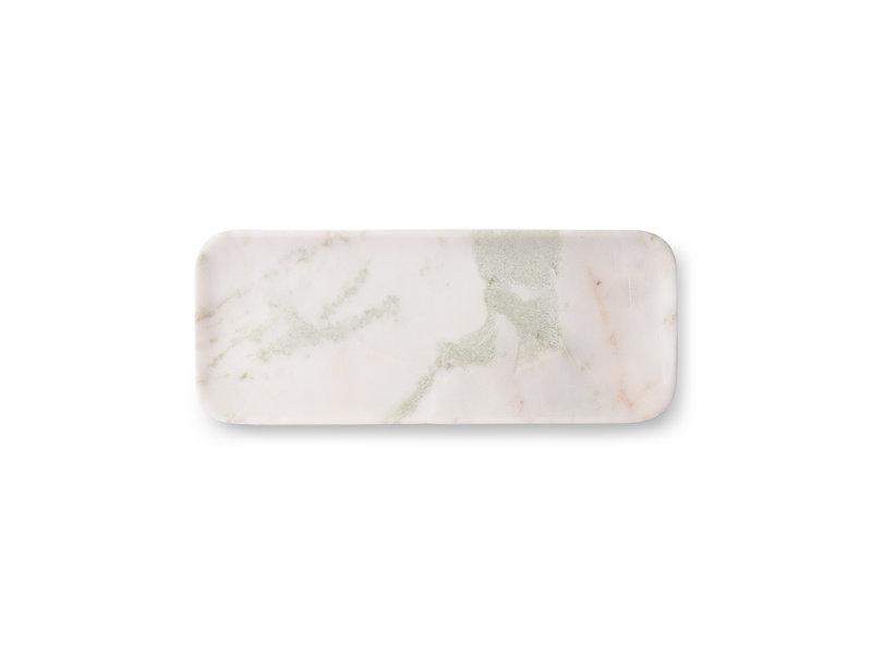 HK-Living Marmeren dienblad wit/groen/roze