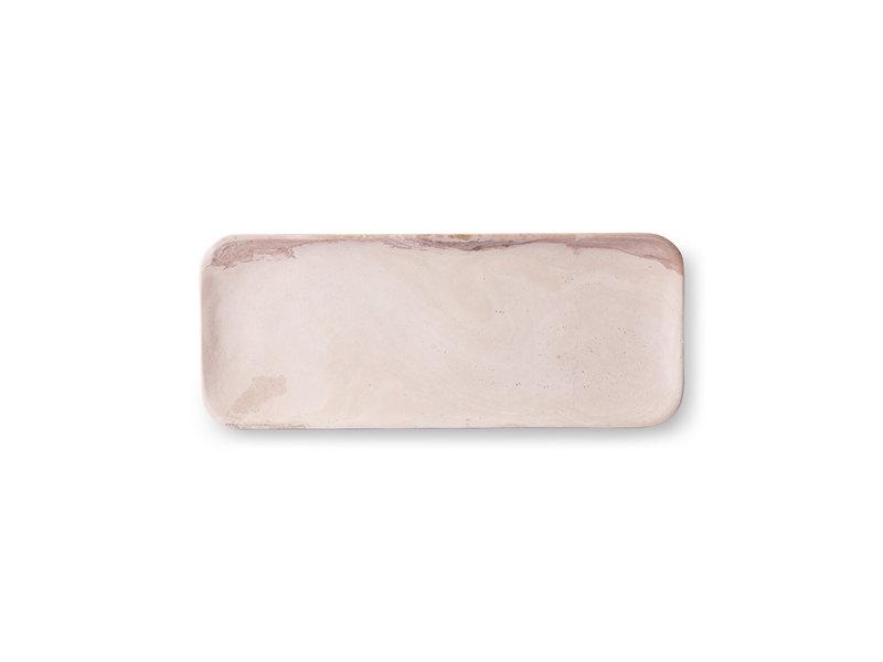 HK-Living Marmorbakke pink