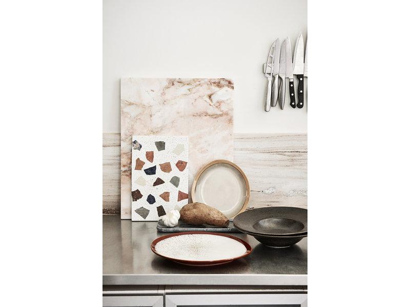 HK-Living Marble tray gray