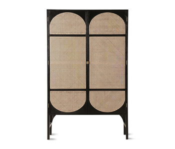 HK-Living Retro webbing wardrobe black