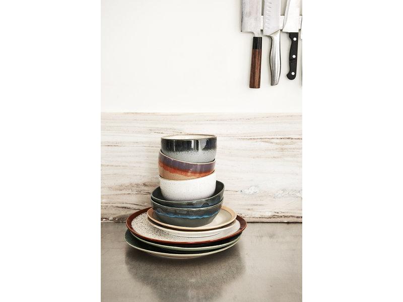 HK-Living Keramik 70s matplattor jord - uppsättning 6 stycken