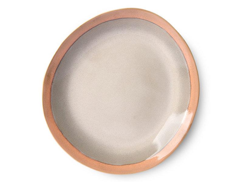 HK-Living Keramik 70s tallerkener jord - sæt af 6 stk