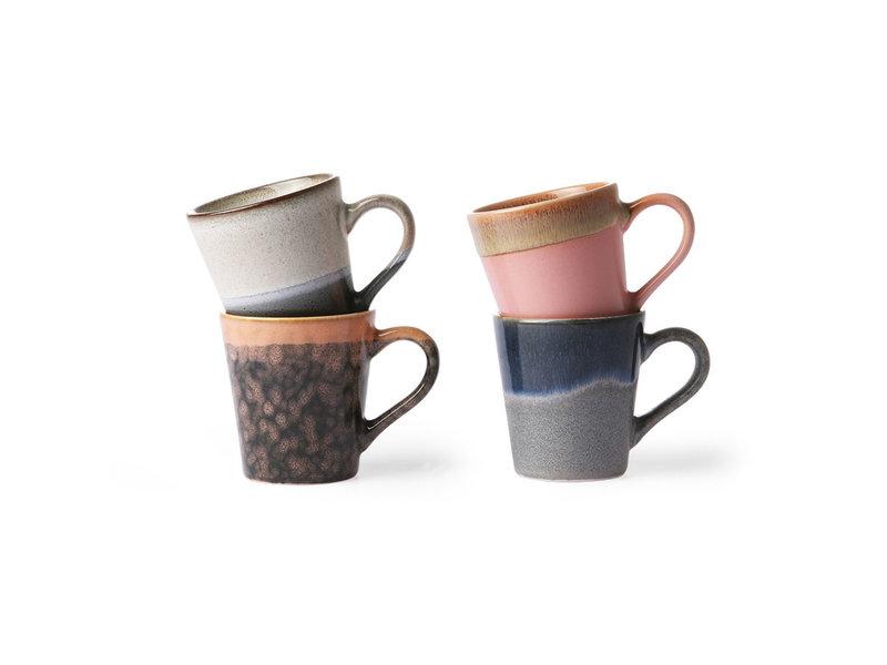 HK-Living Keramieken 70's espresso mokken set