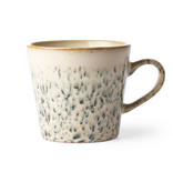 HK-Living Keramieken 70's cappuccino mok hail - set van 4 stuks