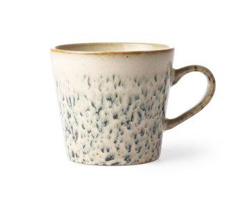 HK-Living Keramikk 70's cappuccino krus hagl - sett med 4 stk
