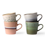 HK-Living Ceramic 70's cappuccino mug set