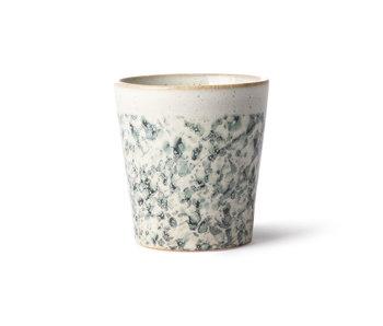 HK-Living Keramik 70er Jahre Becher Hagel - Set von 6 Stück