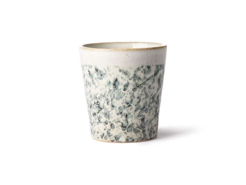 HK-Living Ceramic 70's mugs hail - set of 6 pieces