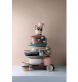 HK-Living Keramik 70er Jahre Becher Hagel - Set von 6 Stück - Copy