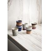 HK-Living Ceramic 70's mugs tornado - set of 6 pieces