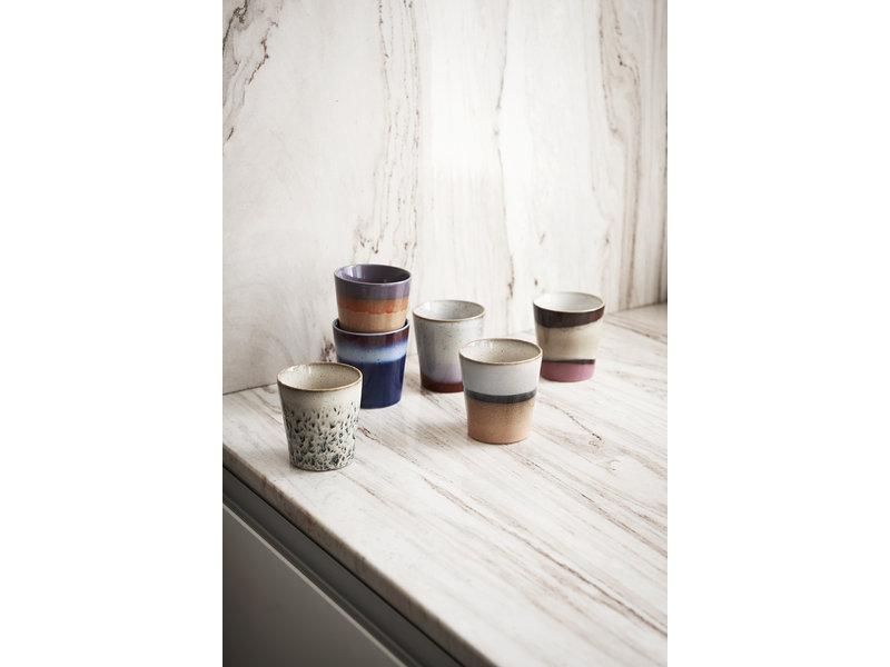 HK-Living Keramik 70's krus luft - sæt af 6 stk