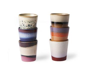 HK-Living Ensemble de tasse en céramique des années 70